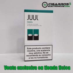 2x Cápsulas JUUL Pods Menta 20mg/ml 0,7ml
