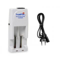 Cargador doble para baterías recargables trusfire